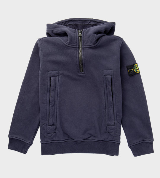 Logo Patch Hoodie Navy