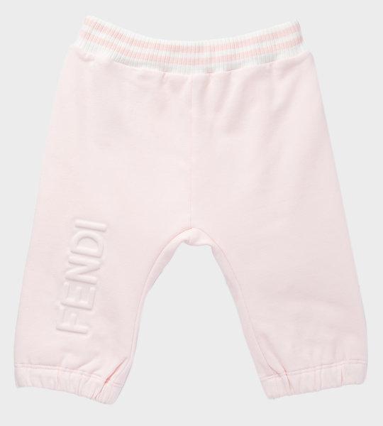 Baby Logo Cotton Sweatpants Pink
