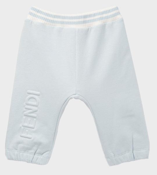 Baby Logo Cotton Sweatpants Blue