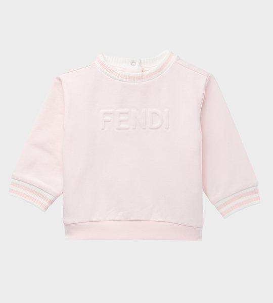 Baby Logo Cotton Sweater Pink