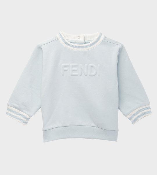 Baby Logo Cotton Sweater Blue