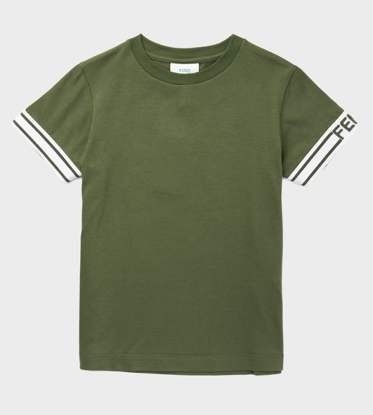 Cotton Logo T-Shirt Green