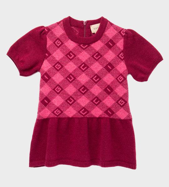 Baby Check Jacquard Dress