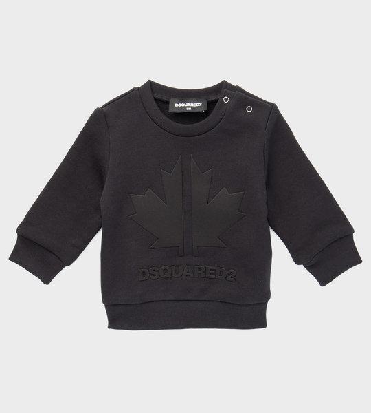 Baby Logo Maple Leaf Sweater Black