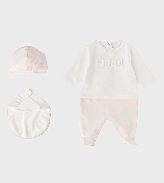 3 Piece Babysuit Gift Set Pink