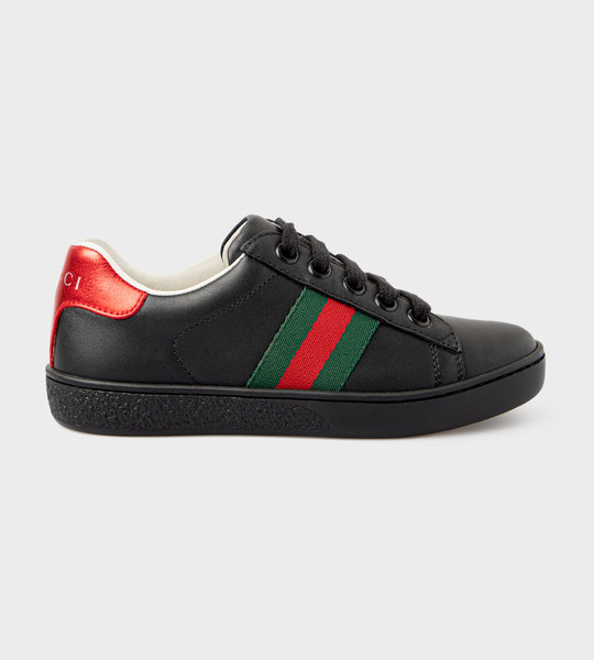 Ace Leather Sneaker Black