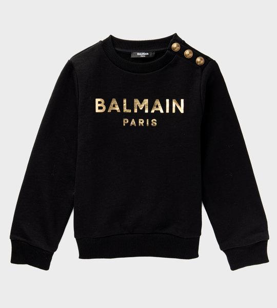 Button Logo Sweater Black