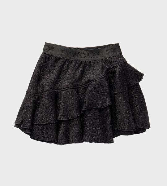 Glitter Ruffle Skirt Black