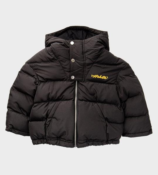 Logo Puffer Jacket Black