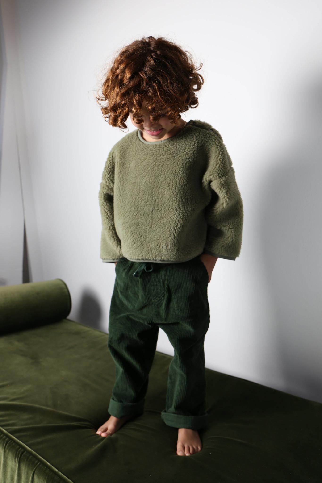 Teddy oversized sweater sage-3