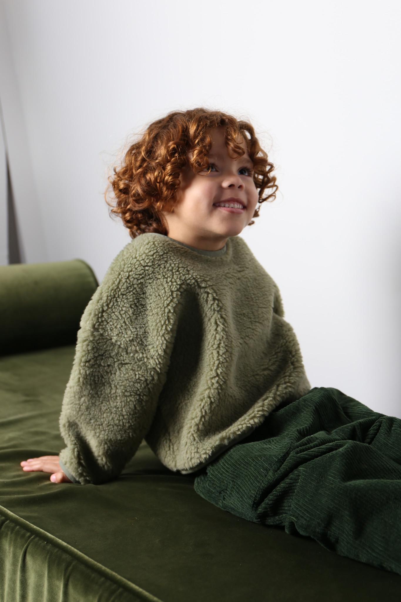 Teddy oversized sweater sage-5