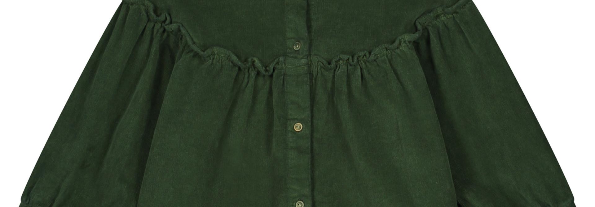 Tara corduroy shirt olive rose