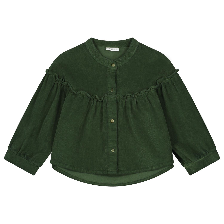 Tara corduroy shirt olive rose-1