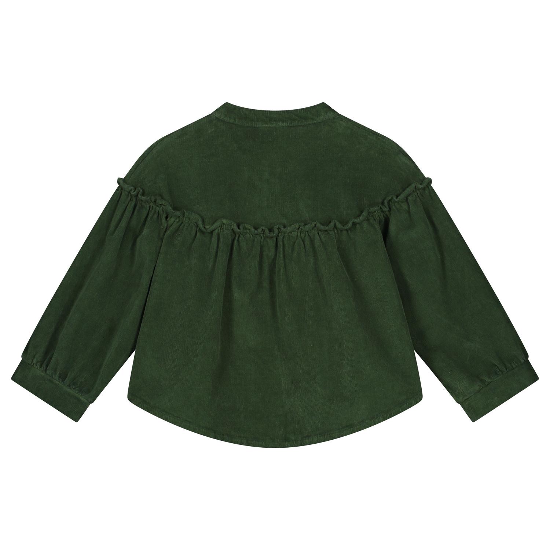 Tara corduroy shirt olive rose-2