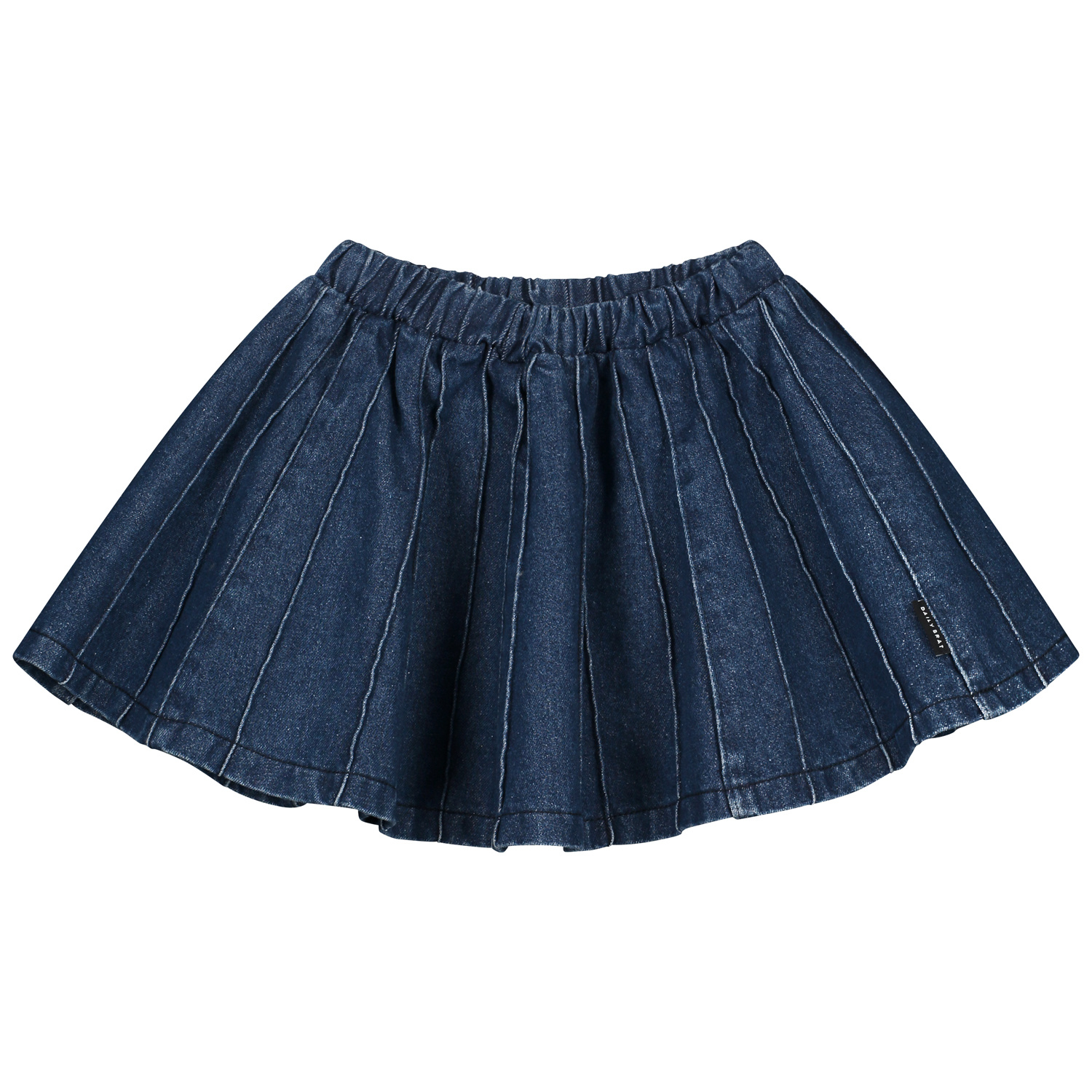 Sally denim plisse skirt indigo-1