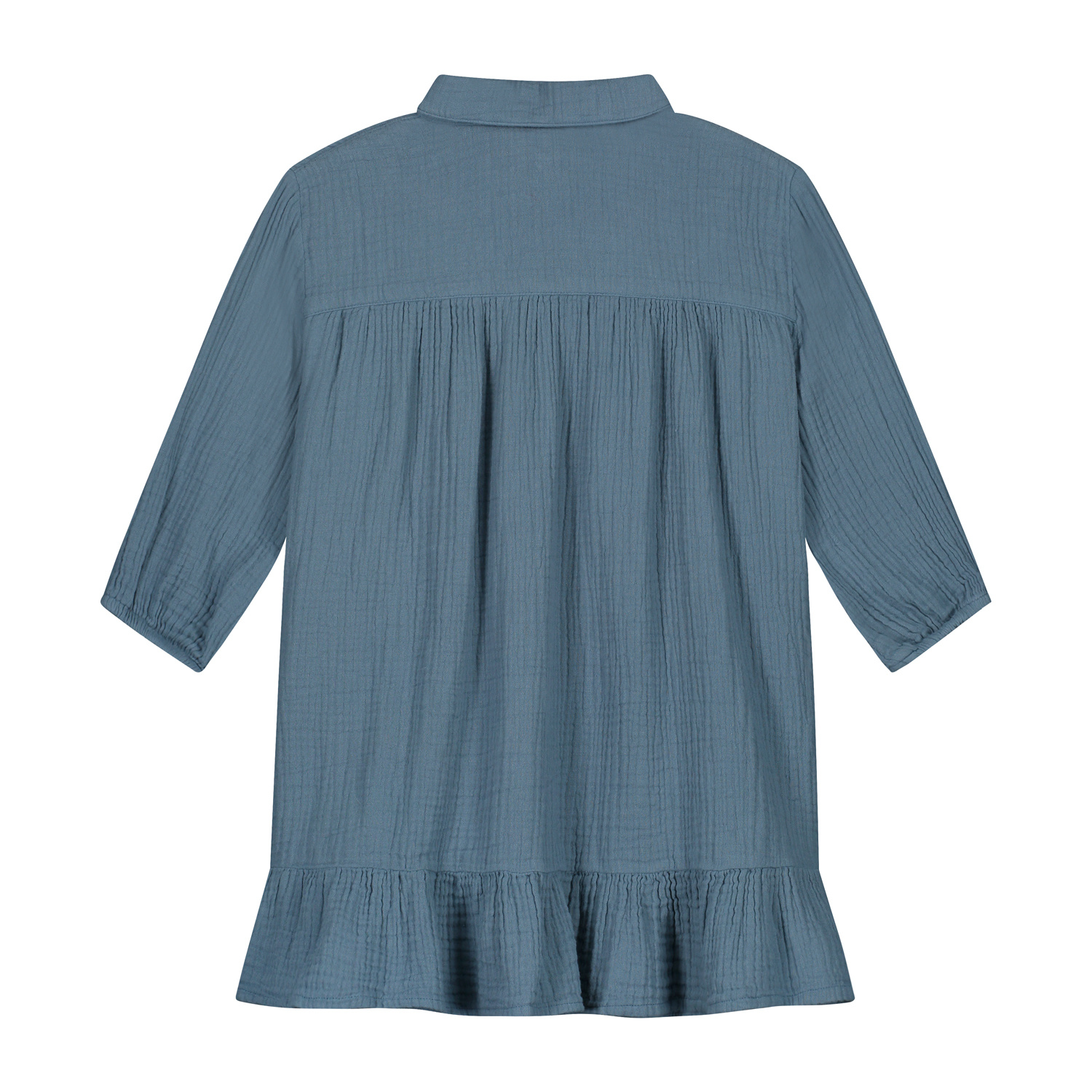 Lilyan dress forest Blue-2