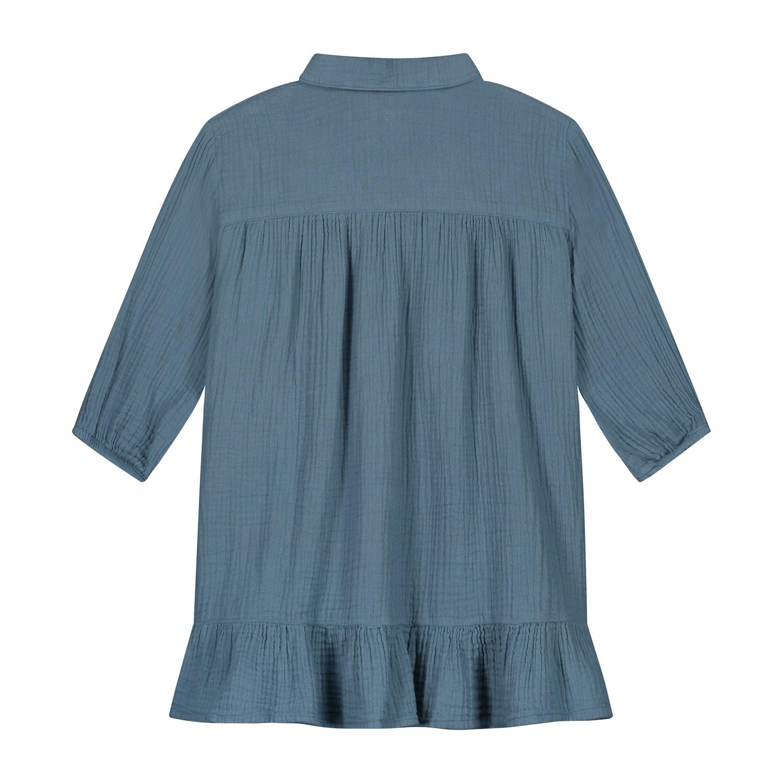 Lilyan Dress Forest Blue-2