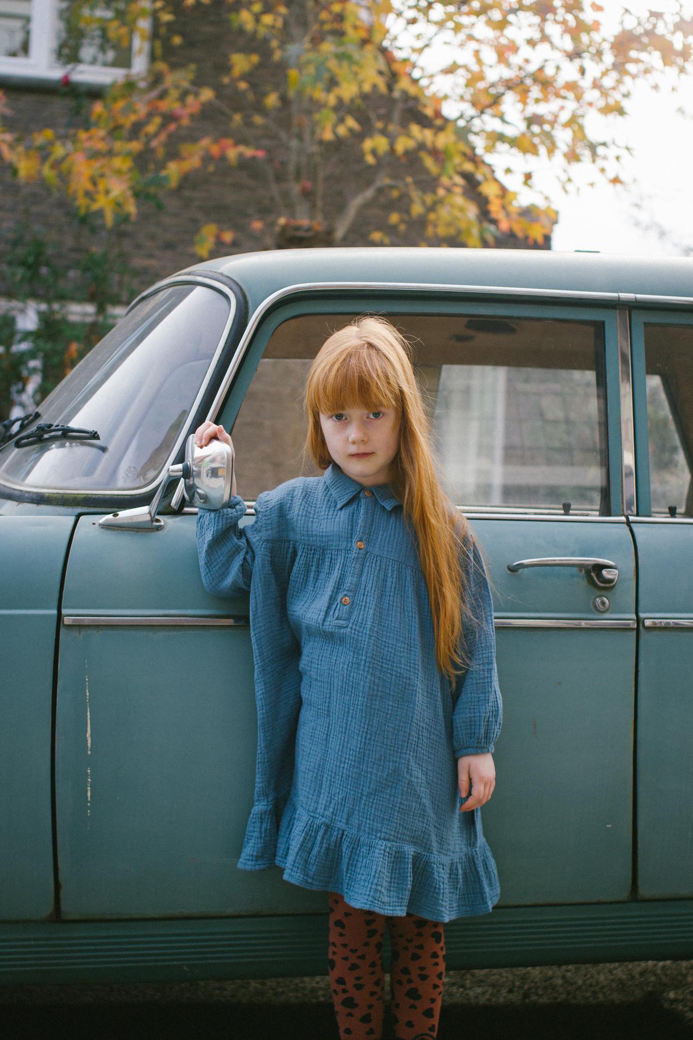 Lilyan Dress Forest Blue-3