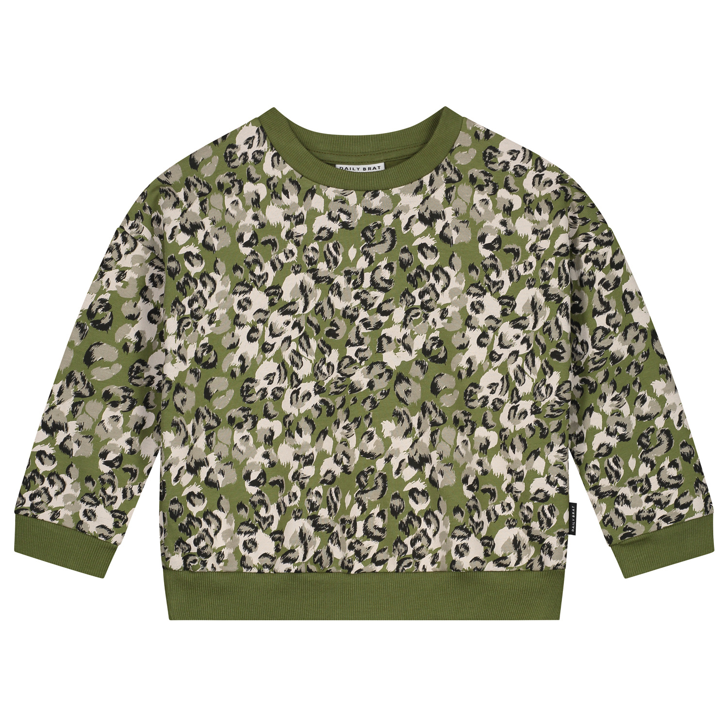 Leopard camo sweater olive rose-1