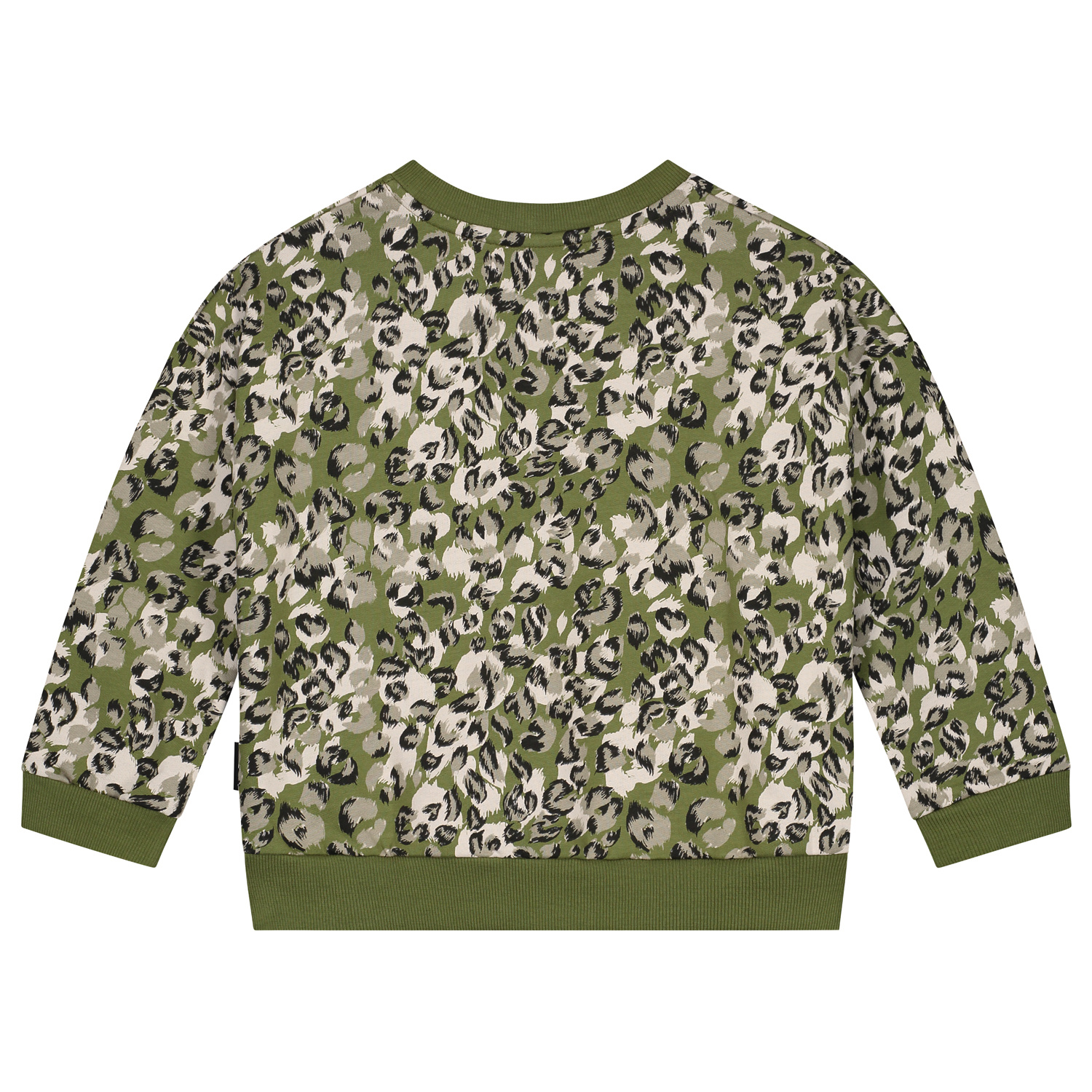 Leopard camo sweater olive rose-2