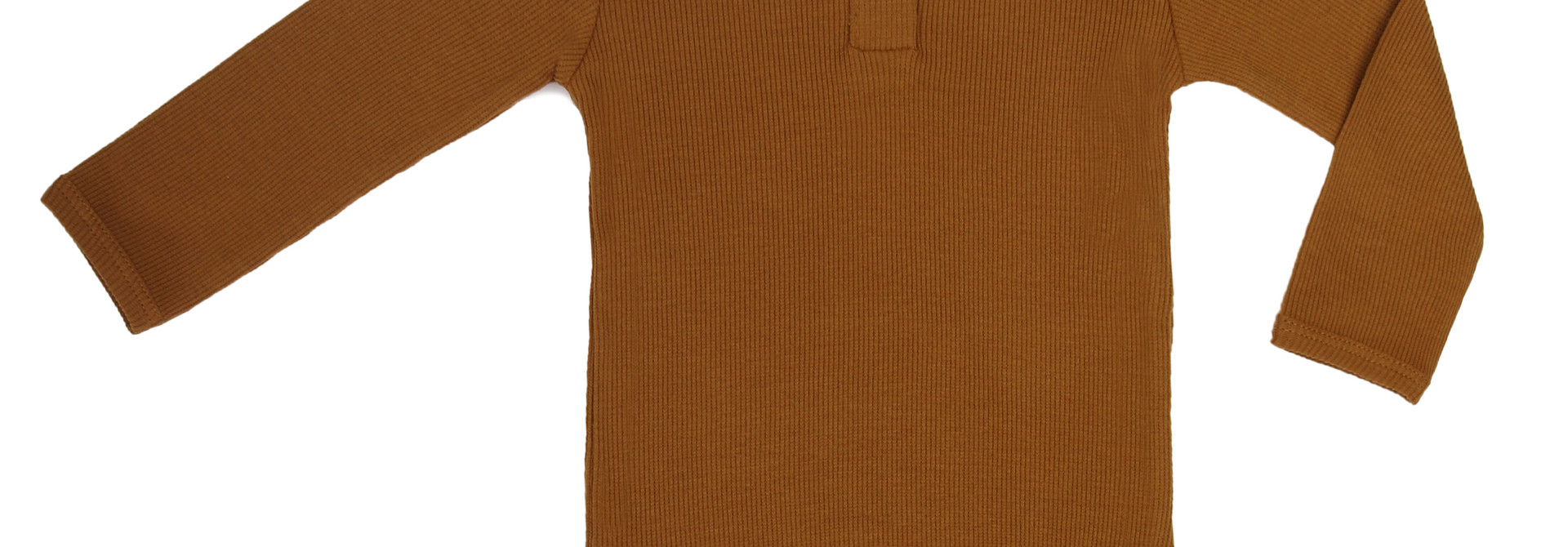 Rib henley body - golden olive