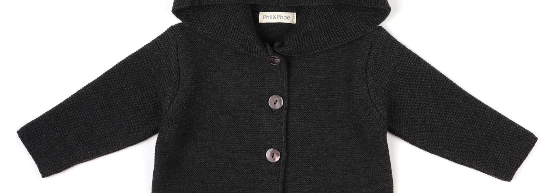 PomPom baby knit cardigan