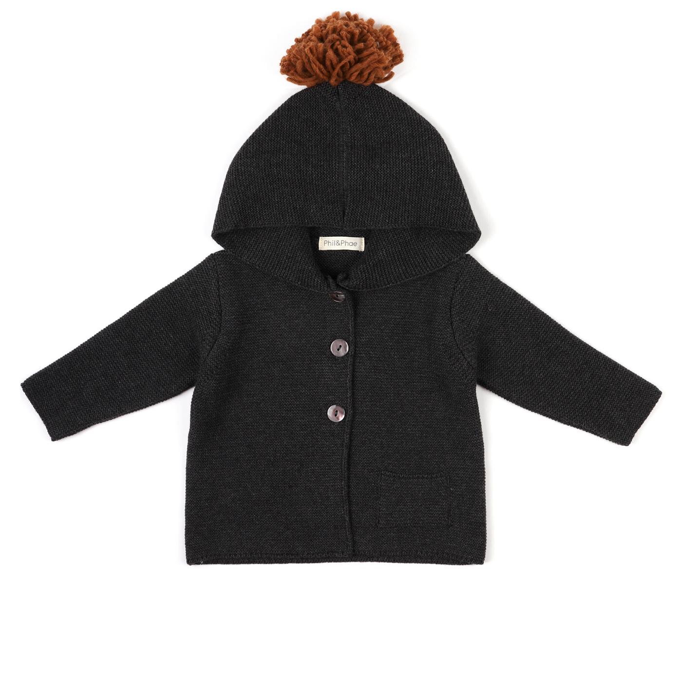 PomPom baby knit cardigan-1