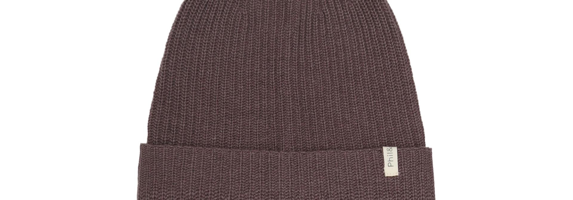Cashmere - blend knit Beanie - Lavender