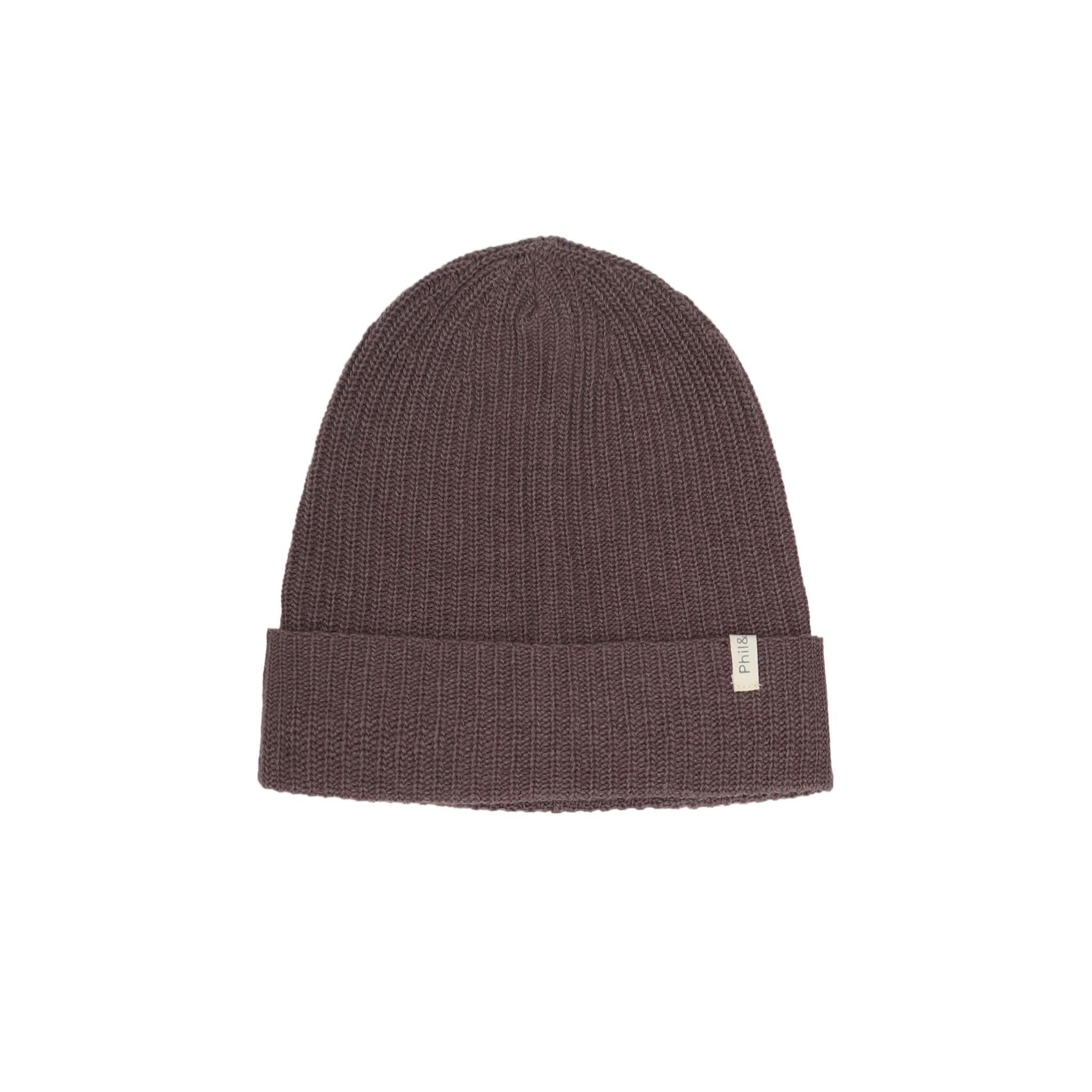 Cashmere - blend knit Beanie - Lavender-1