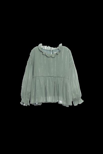 Ruffle blouse - Sage