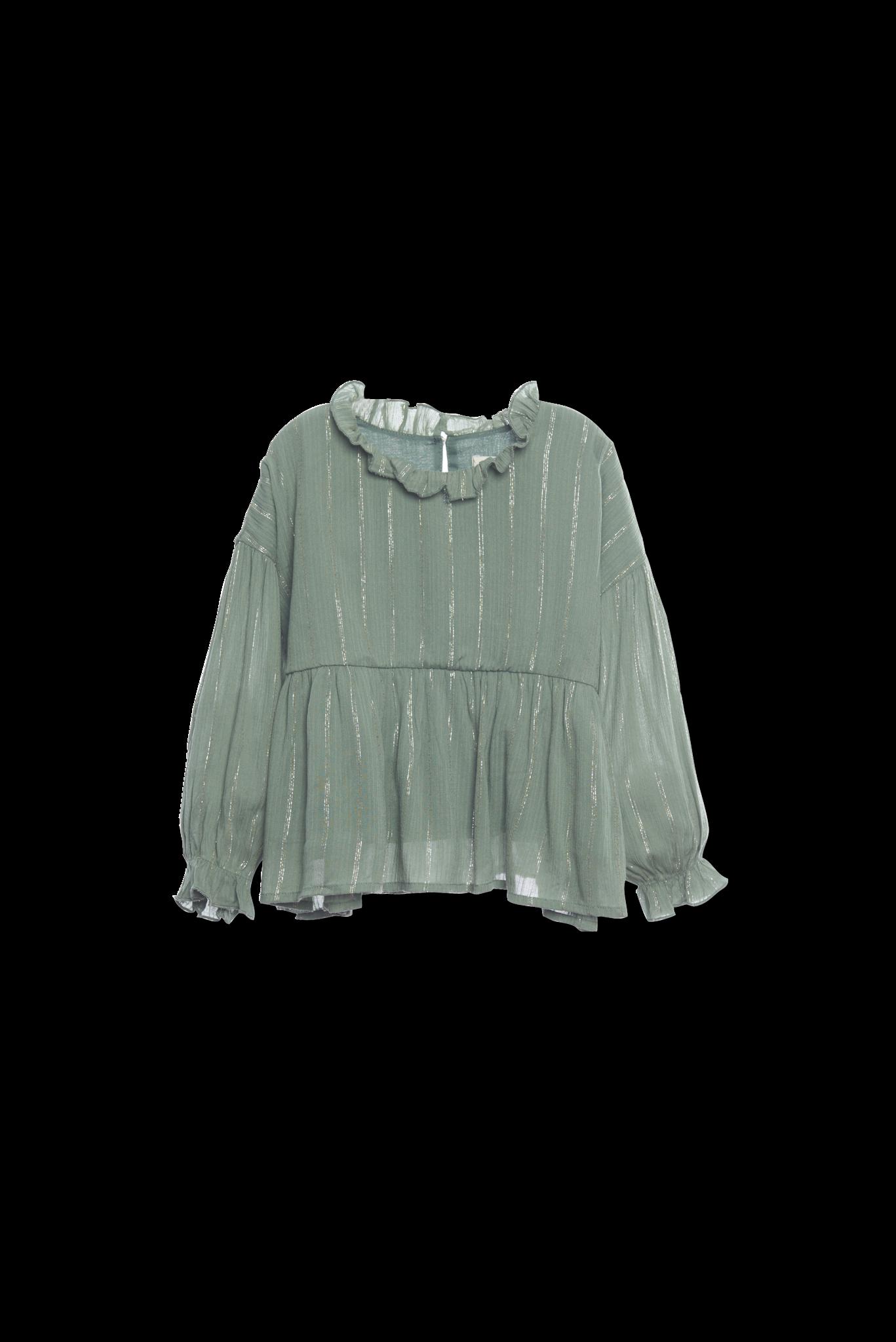 Ruffle blouse - Sage-1