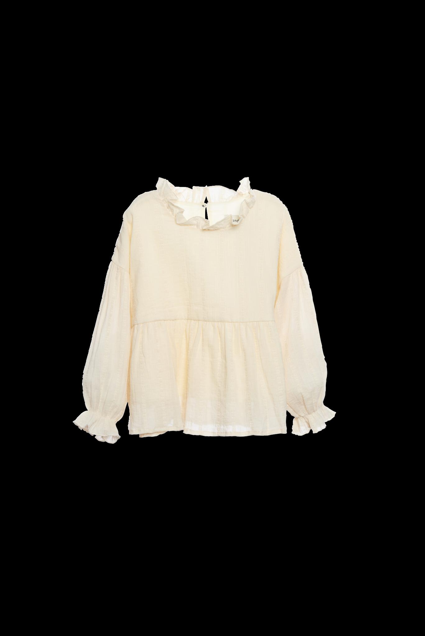 Ruffle blouse - Ecru-1