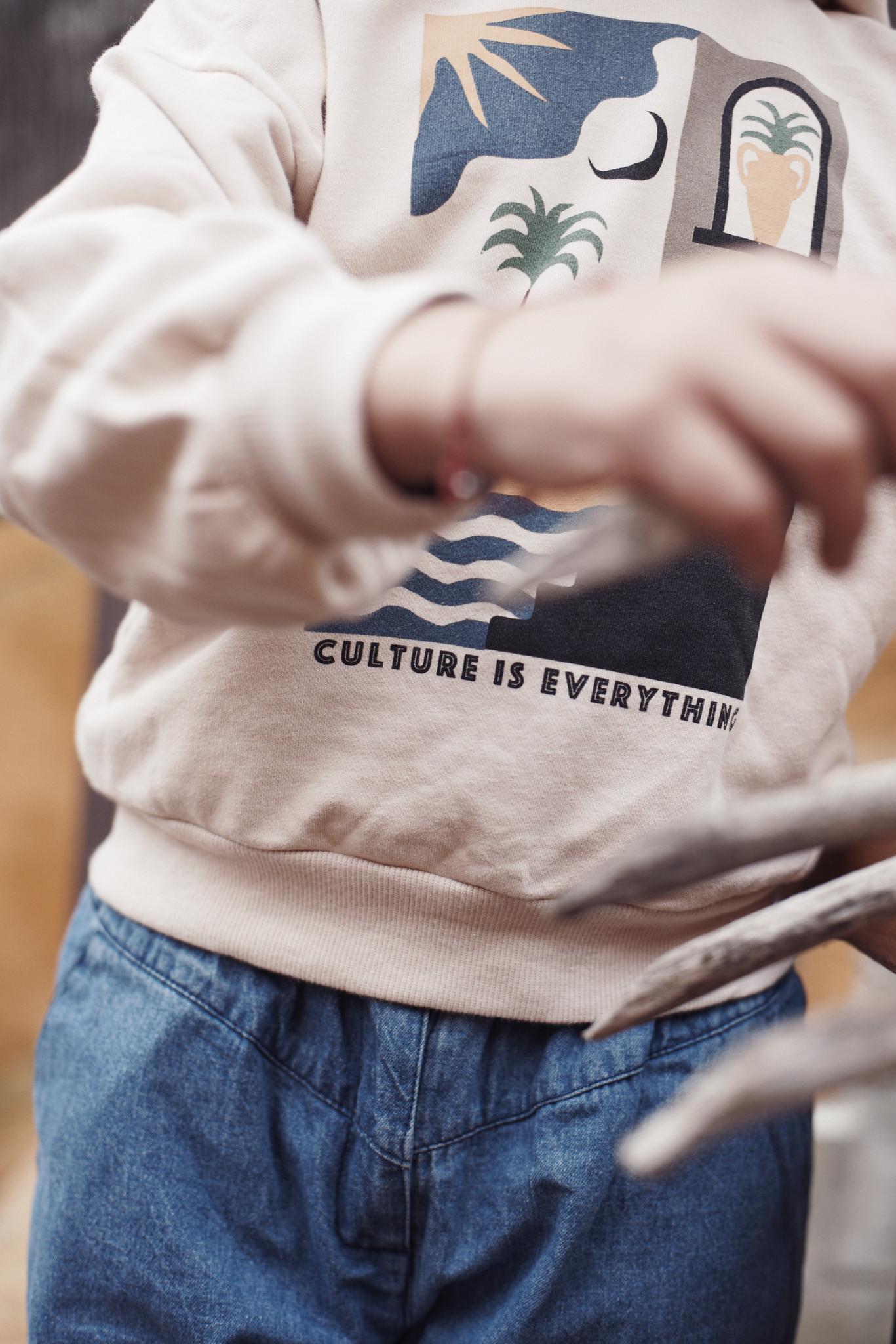 Hoodie sweatshirt Ecru-3