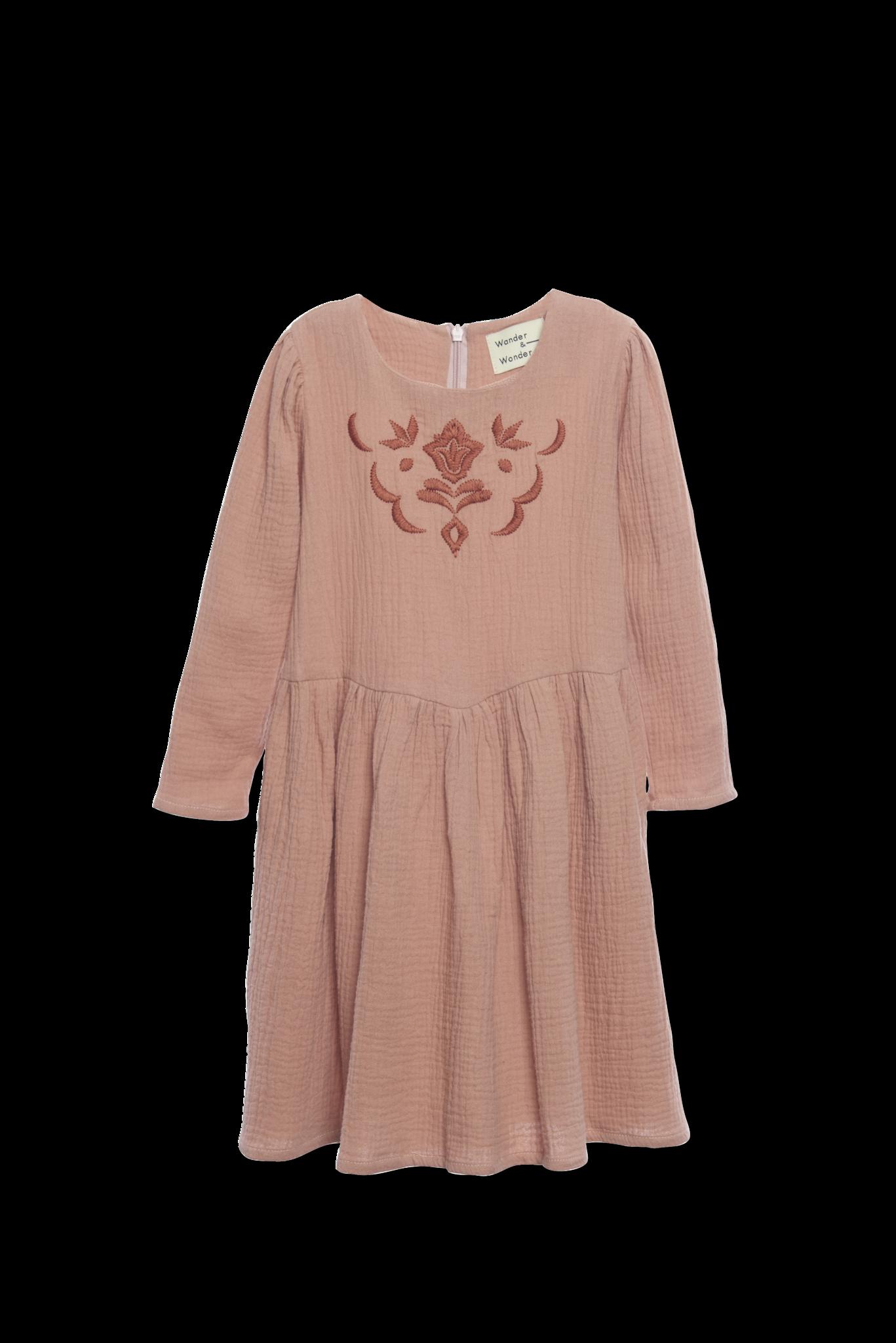 Fatima Dress Nutmeg-1