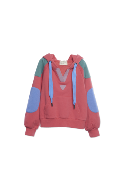 Colorblock Hoodie - Hybiscus