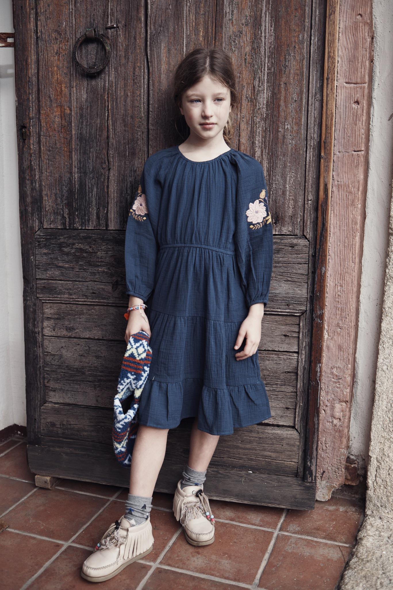 Aica Dress Indigo-2