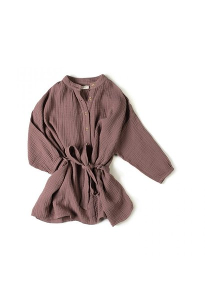 Cord dress - Mauve