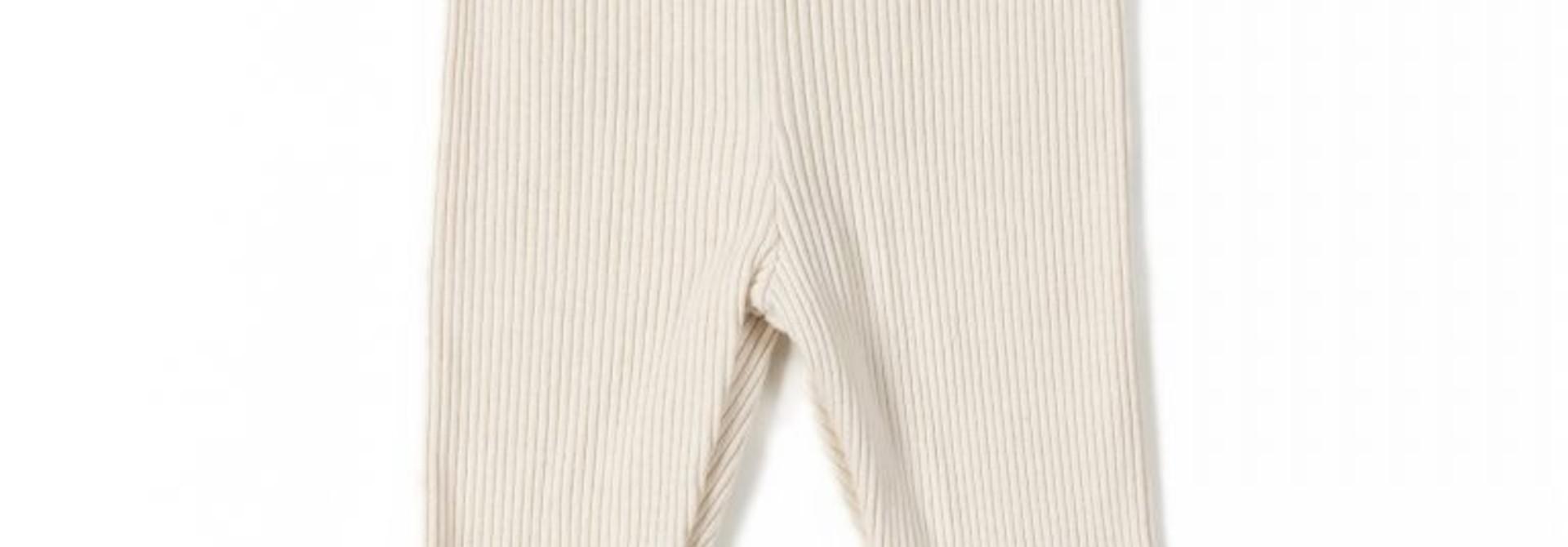 Rib legging - Cream