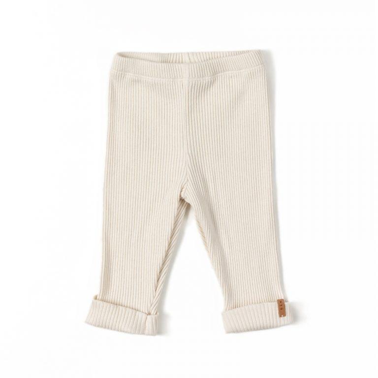 Rib legging - Cream-1