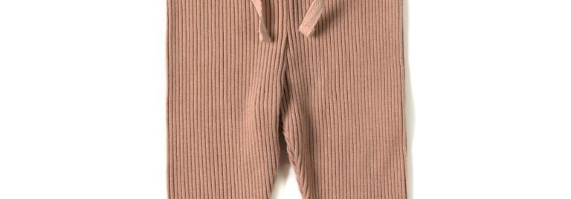 Rib legging - Lychee