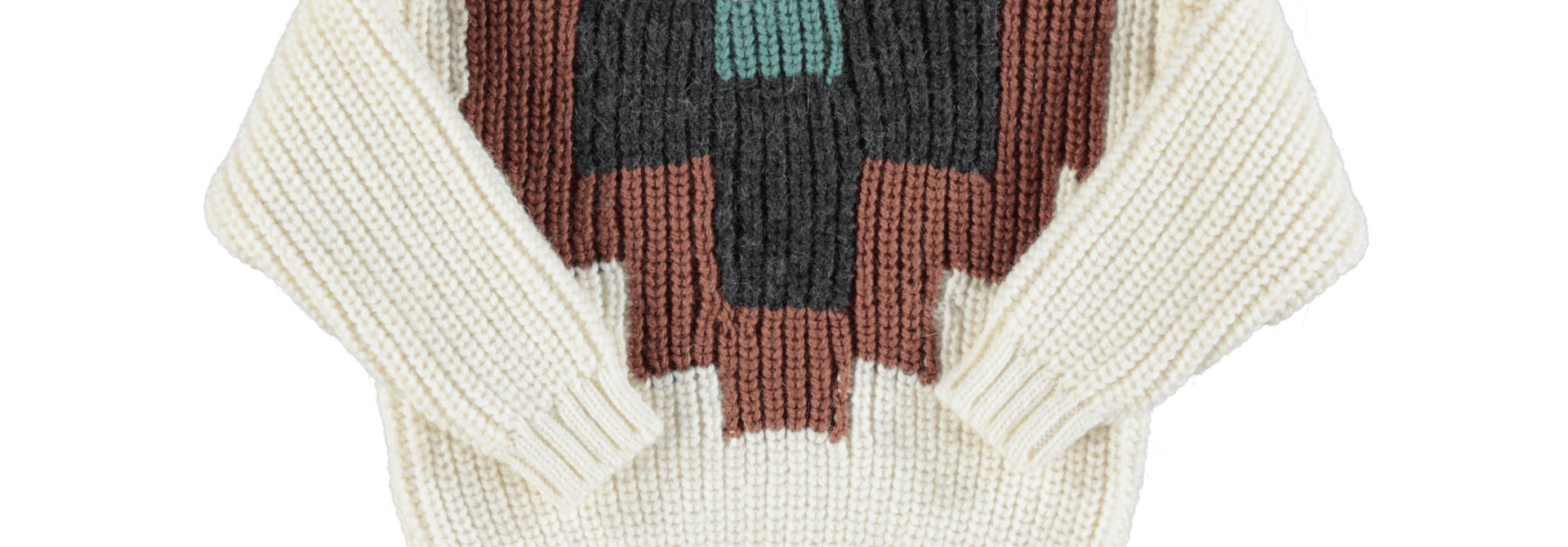Sweater multicolor pattern