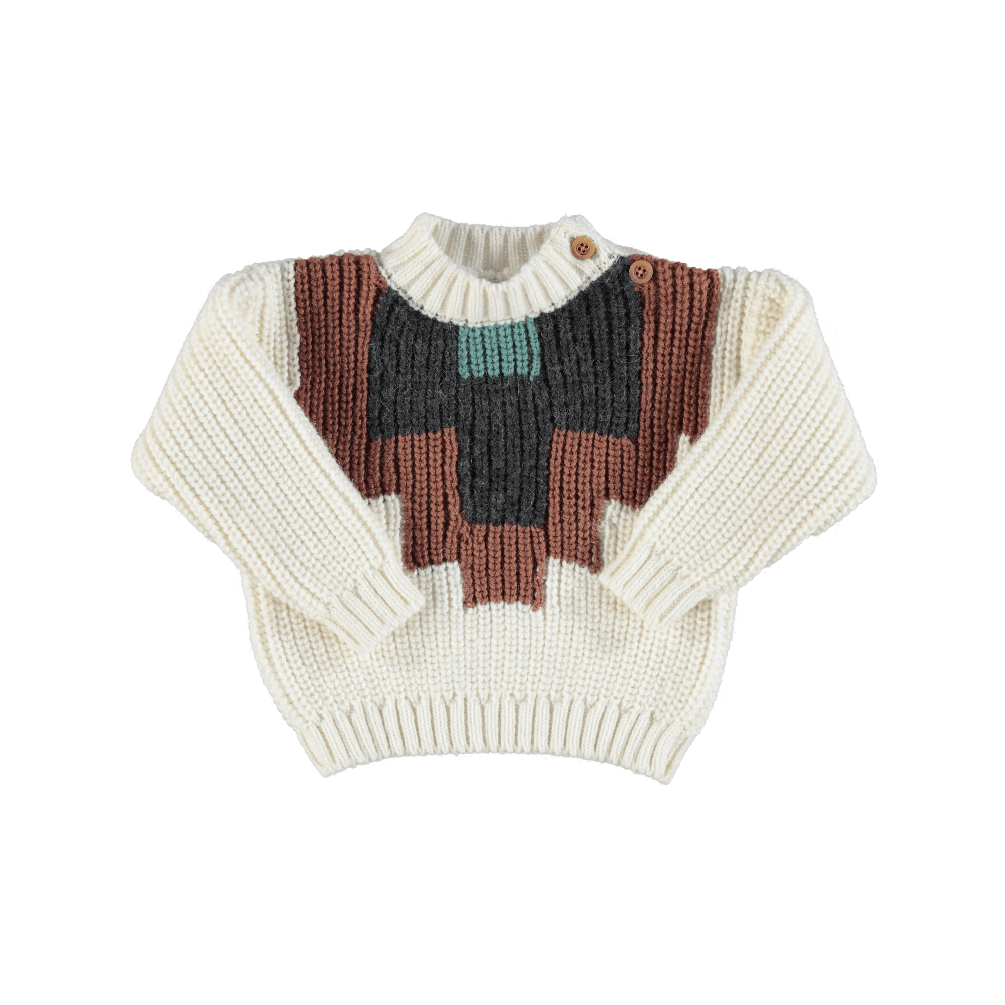 Sweater multicolor pattern-1