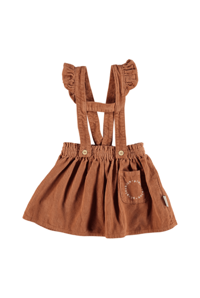 Short Skirt straps pecan nut