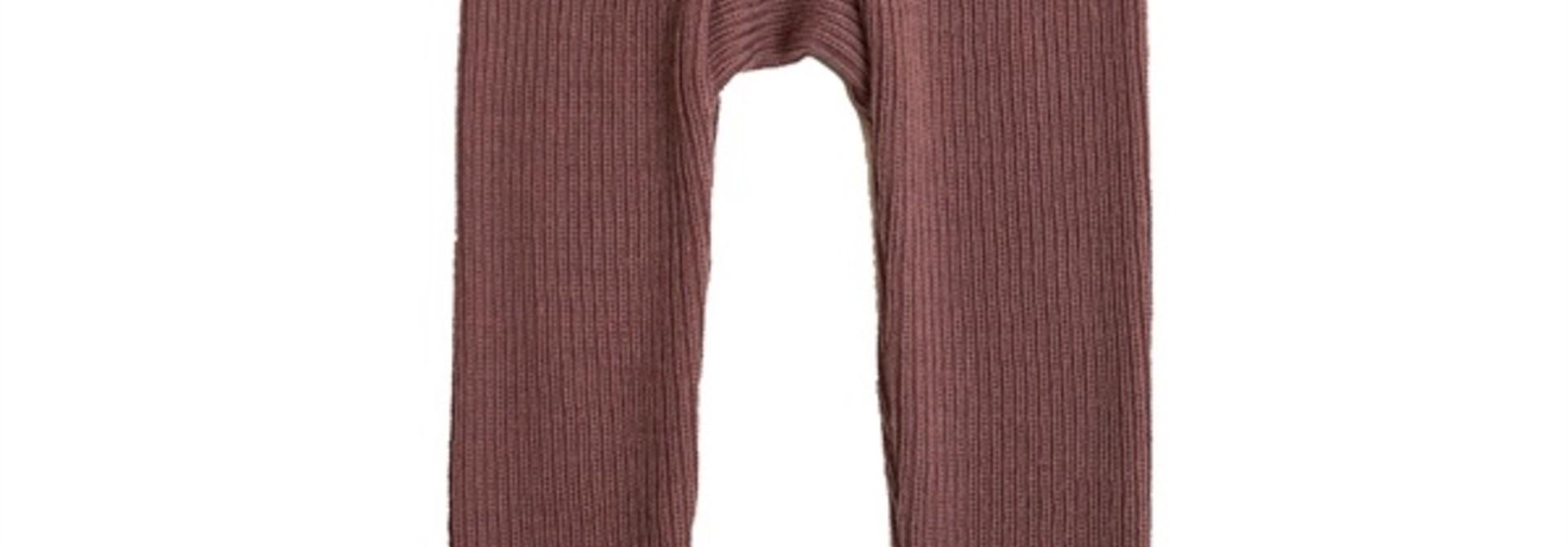 Legging rib - merino wool