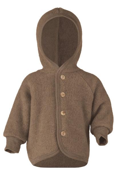 Hooded vest - Walnut