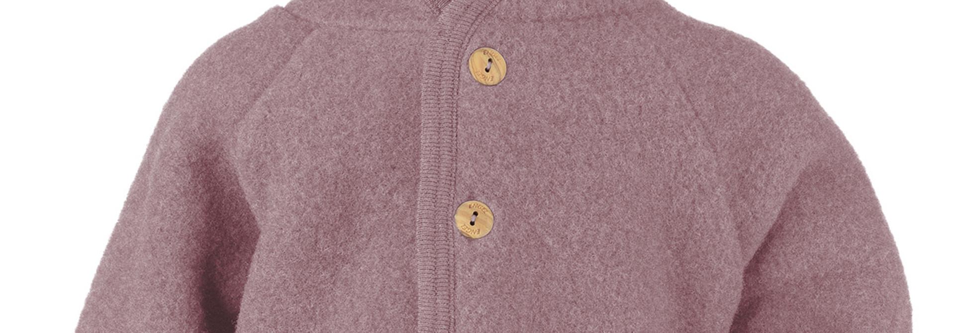 Hooded vest - Rosewood