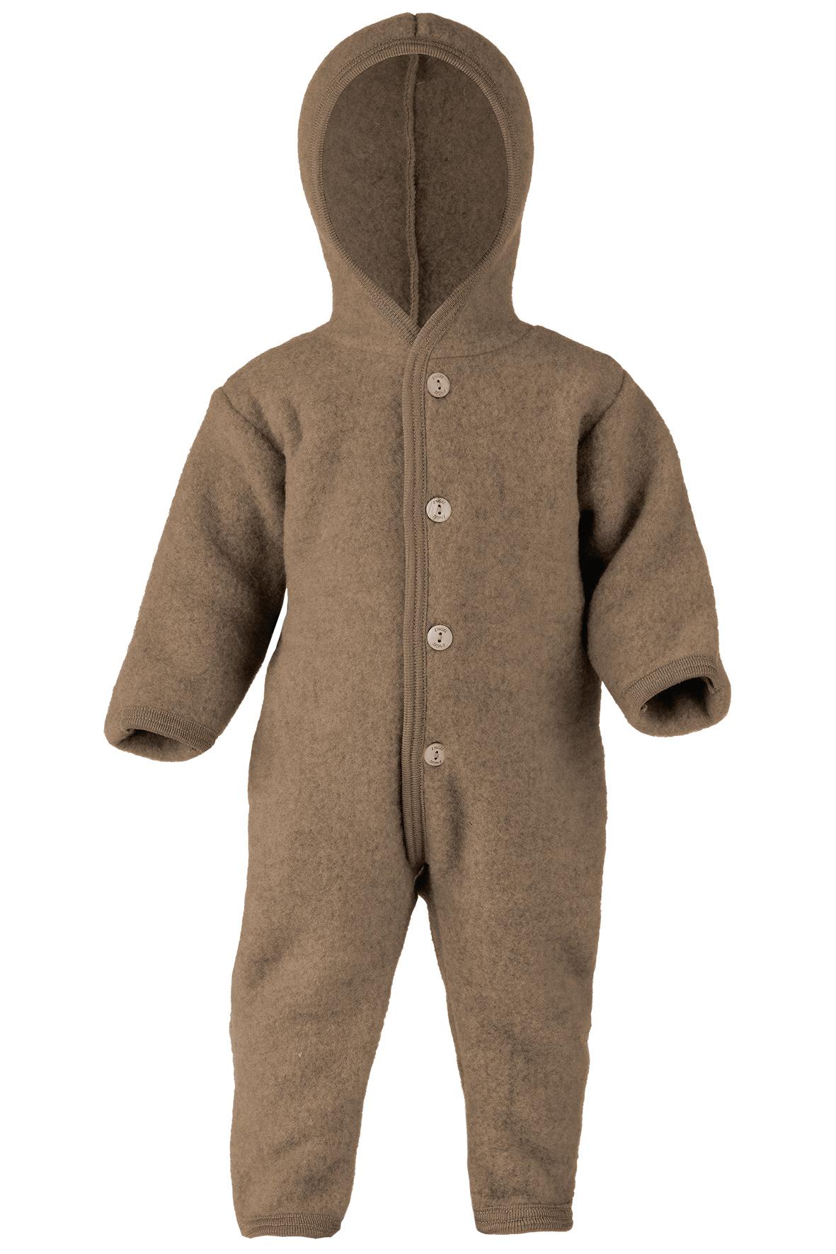 Hooded overall - Walnut-1