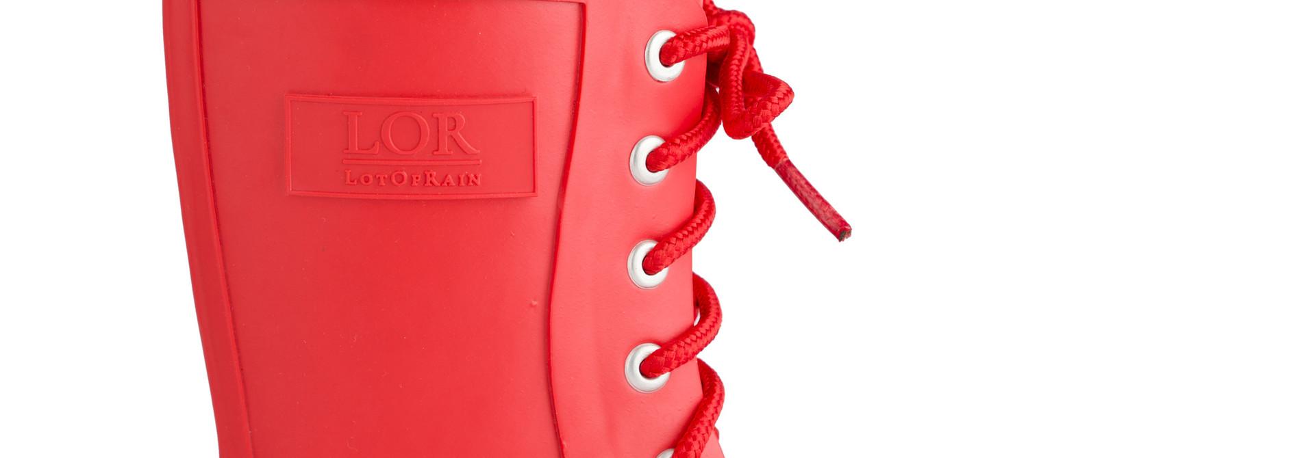 Regenlaars met veter - Rood