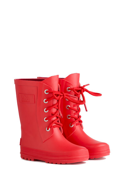 Rain boots with lace - Red