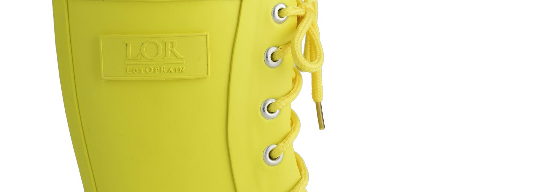 Regenlaars met veter - Geel